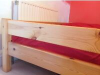 High bed, quality solid pine,very good condition.