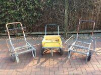Heavy duty galvanised garden trollies