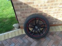 4 alloy wheels with tyres 255/45/17 tyres have plenty of tred one or two small scrubs on the alloys