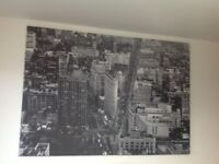 NEW YORK CANVAS - black and white