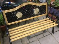 Fully refurbished garden bench