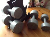 Pro Fitness dumbbells 2 X 2.3 kg & 2 X 4.5 kg