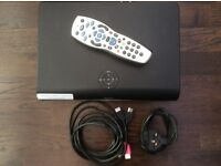 Sky+HD Satellite box, with remote, power cable & hdmi lead.w