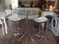 Breakfast table two stools
