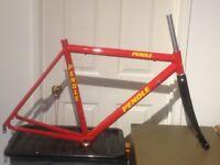 Brand New Pendle Aluminium Road Bike Frame & Carbon Forks