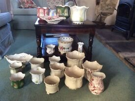 China planters 19 various pieces of china