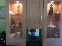 Kitchen display wall unit