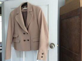 Whistles wool warm beige jacket. Size 12/14