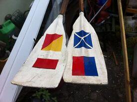 Pair of unique oars