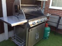 Fire mountain 4 burner stainless steel gas barbecue