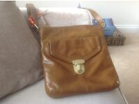Tan leather M&S cross-body bag, never used