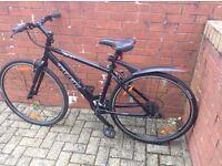 Trek hybrid bicycle gents clean black, fully geared