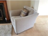BRAND NEW UNUSED SOFA/ARM CHAIR OAT MEAL COLOUR EXCELLENT QUALITY FOR COLLECTION (FABRIC)