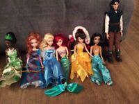 Dolls bundle Disney princesses Barbie and random