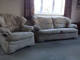 G PLAN SOFA AND 2 ARM CHAIRS