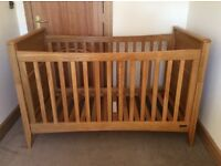 Mamas & Papas Solid Oak Cot and Chest of Drawers