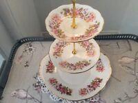 Colclough Bone China 3 Tier Cake Stand.
