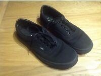Vans old school black shoes.