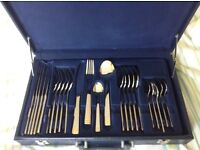 Suissine 24 piece gold plated cutlery set