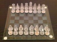 Small Glass Chess Set (boxed)