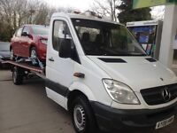 2008 Mercedes Sprinter Recovery Truck 6 Speed Manuel MOT 18ft Long Bed, Winch Ramp Solid Truck £4495