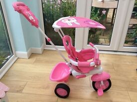 FISHERPRICE STROLL-TO-RIDE TRIKE - PINK - IMMACULATE CONDITION