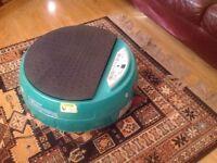 Vibrapower disc vibrating exercise machine