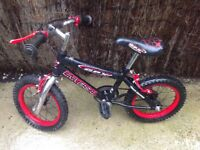 Two Kids bikes: 12 in and 14 in, no stabilisers