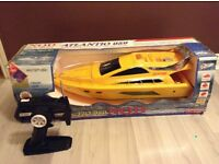 remote control boat yellow