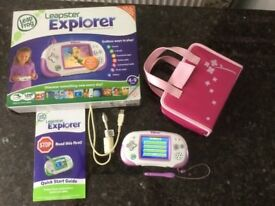 Leapfrog Leapster Explorer Learning Educational Games Console and Case