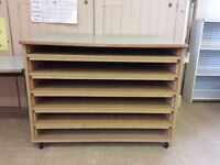 Art paper storage unit