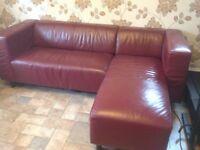 Corner sofa moda leather effect Right Hand Corner Sofa