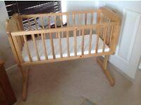 Swing, crib, wooden