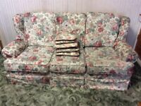 3 seat sofa and matching armchair.