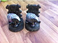 indian elephant bookends