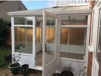 Full height conservatory ,dismantled ,can deliver 3 mby 3 m excellent