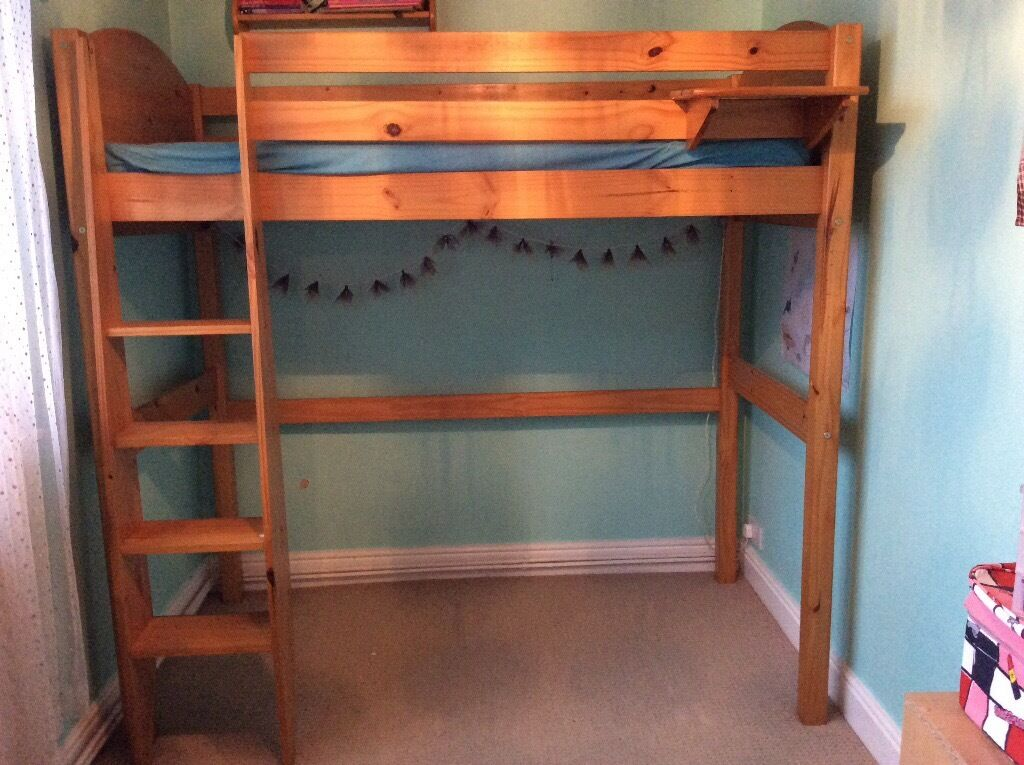 Shorty High Sleeper Bed Frame In Solid Pine In Keynsham Bristol