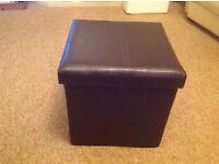 Leather Type Storage Box cum Seat