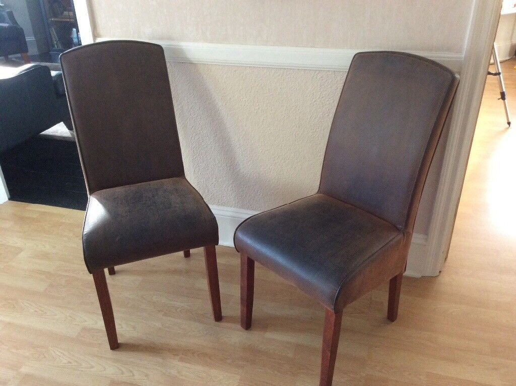 Nubuck leather chairs from house of Fraser