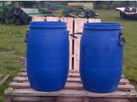 Clean 60 litre plastic water butt drum barrel