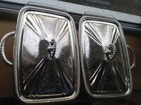 Queen Anne Silver Service serving dishes