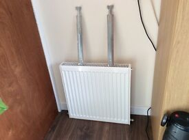 Stelrad K1 single compact central heating radiator 600H x 600W