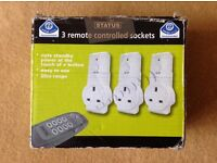 Status Energy Saving 3 Remote Controlled Sockets