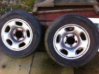 Set of Steel 16 inch wheels from Suzuki Grand Vitara