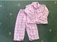 Set of warm pink hippo pjs, 2-3 years, great condition