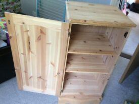 Solid wood storage unit