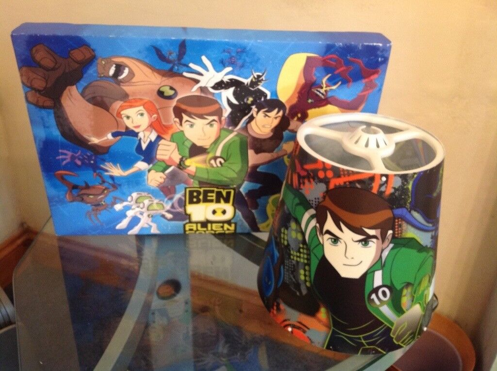 Ben 10 light shade and wall print