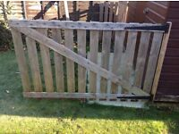 Wooden picket type panels untreated maybe suitable for fencing or gate