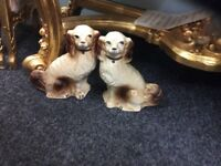 Collection of Staffordshire/ beswick dogs