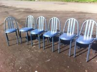 Six stacking Morris Furniture dining chairs